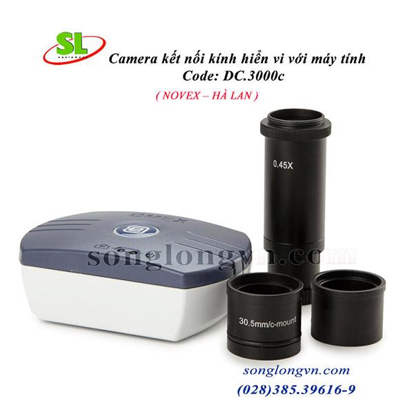 Camera kết nối kính hiển vi DC 3000 C với máy tin Euromex Hà Lan