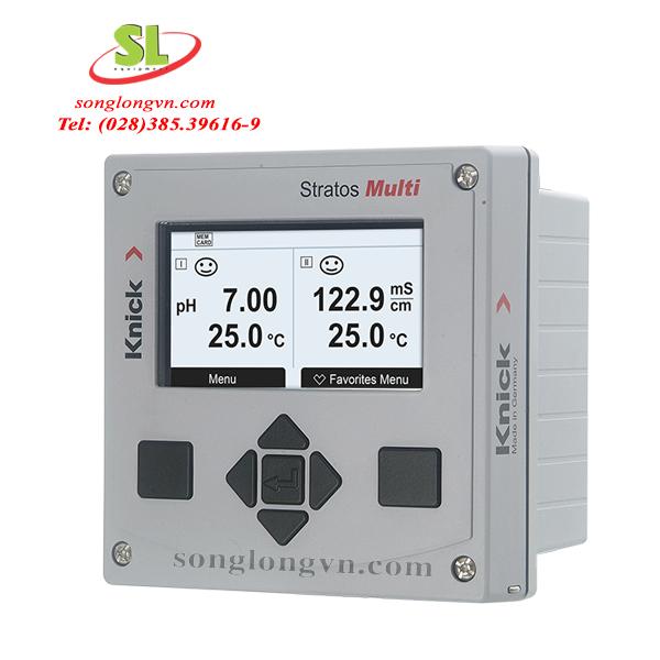 Máy đo 2 chỉ tiêu đổng thời (pH/Oxy hòa tan, ORP, độ dẫn điện, nhiệt độ) Knick