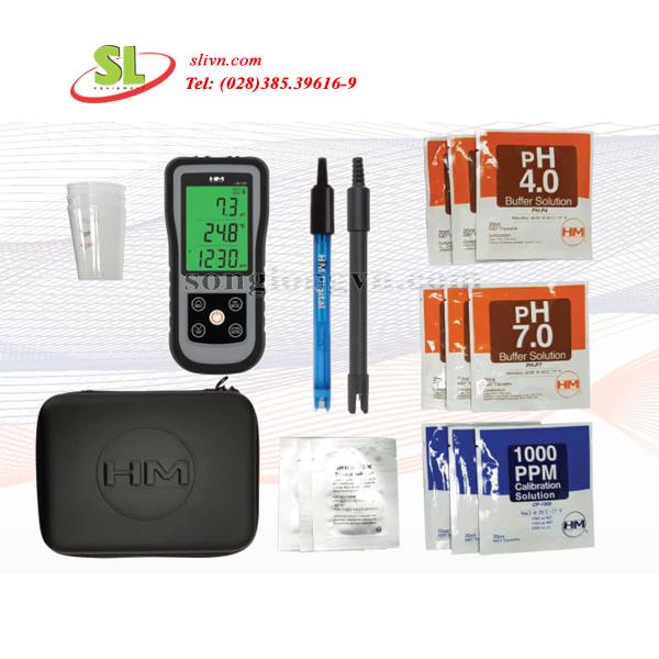 Máy đo pH/ec/tds/Nhiệt độ model HM-200PK HM Digital USA